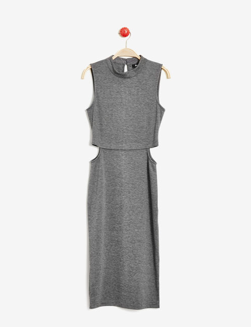Anthracite grey marl open side dress