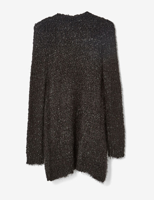 Black popcorn knit cardigan