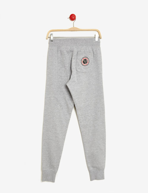 Grey marl joggers with patch detail