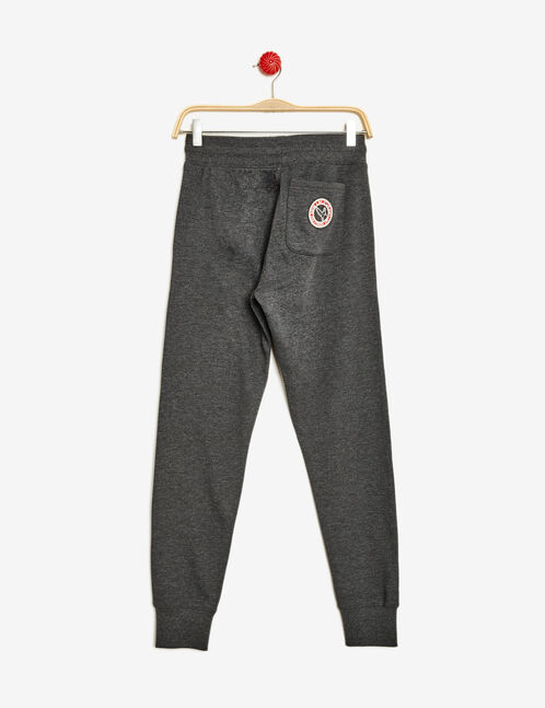 Charcoal grey marl joggers with patch detail