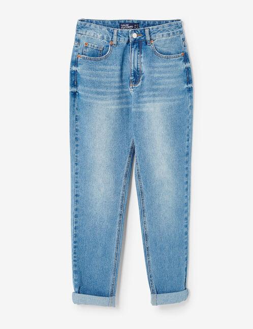 jean mom fit medium blue