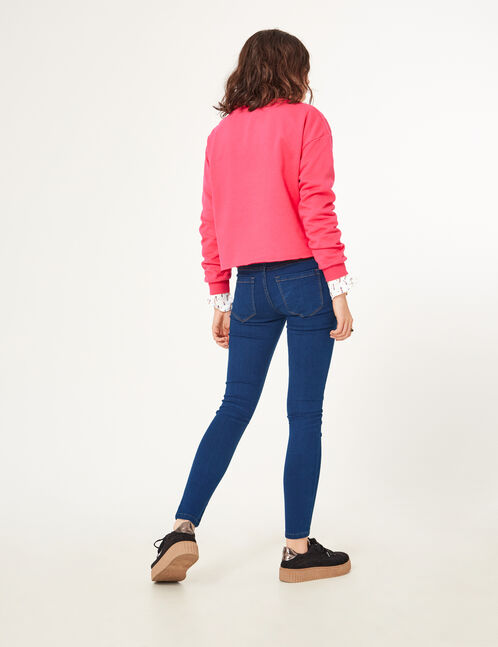 Raw denim jeggings