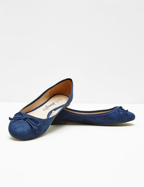 ballerines en suédine bleu marine
