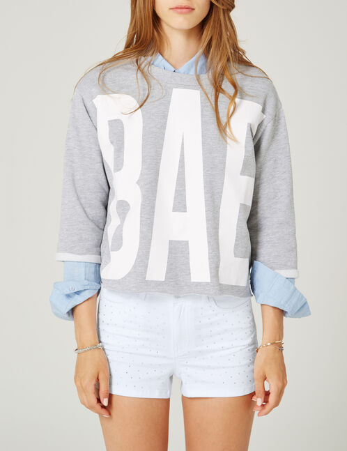 sweat bae gris chiné