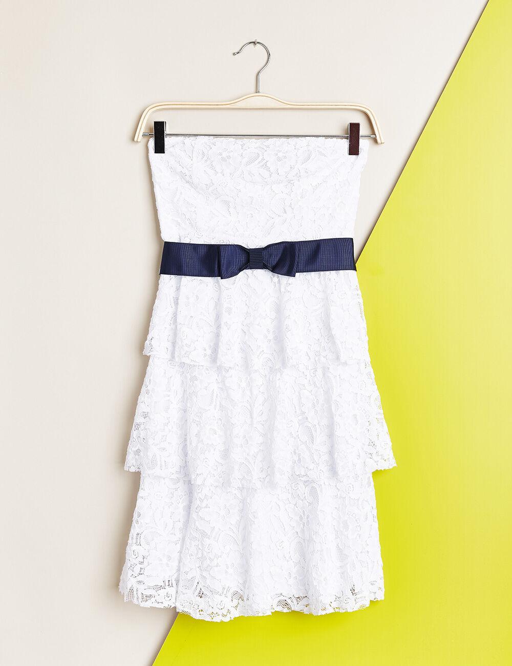 robe bustier en dentelle blanche femme jennyfer. Black Bedroom Furniture Sets. Home Design Ideas