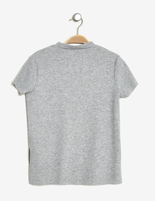 tee-shirt patchs licornes gris chiné