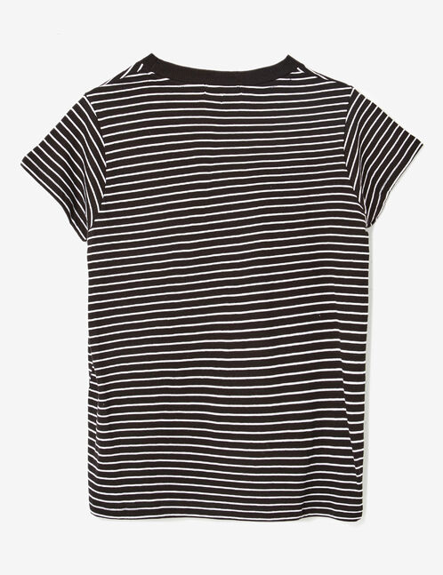 Basic black and white striped T-shirt