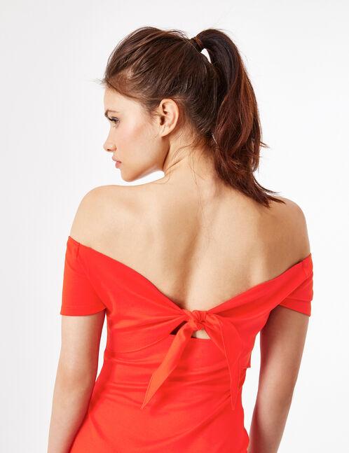 robe à nouer dans le dos rouge