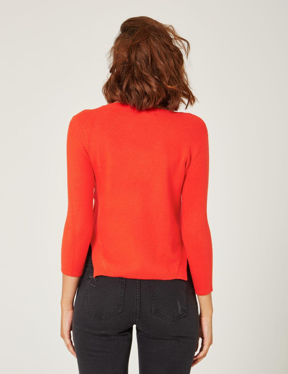 pull toucher cachemire rouge femme jennyfer. Black Bedroom Furniture Sets. Home Design Ideas