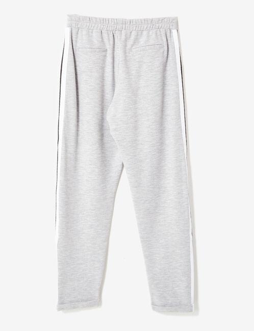 Grey marl pleated joggers