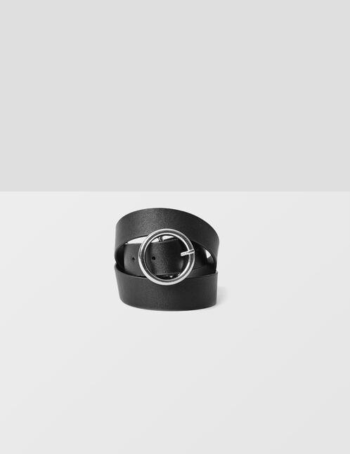ceinture à boucle ronde noire