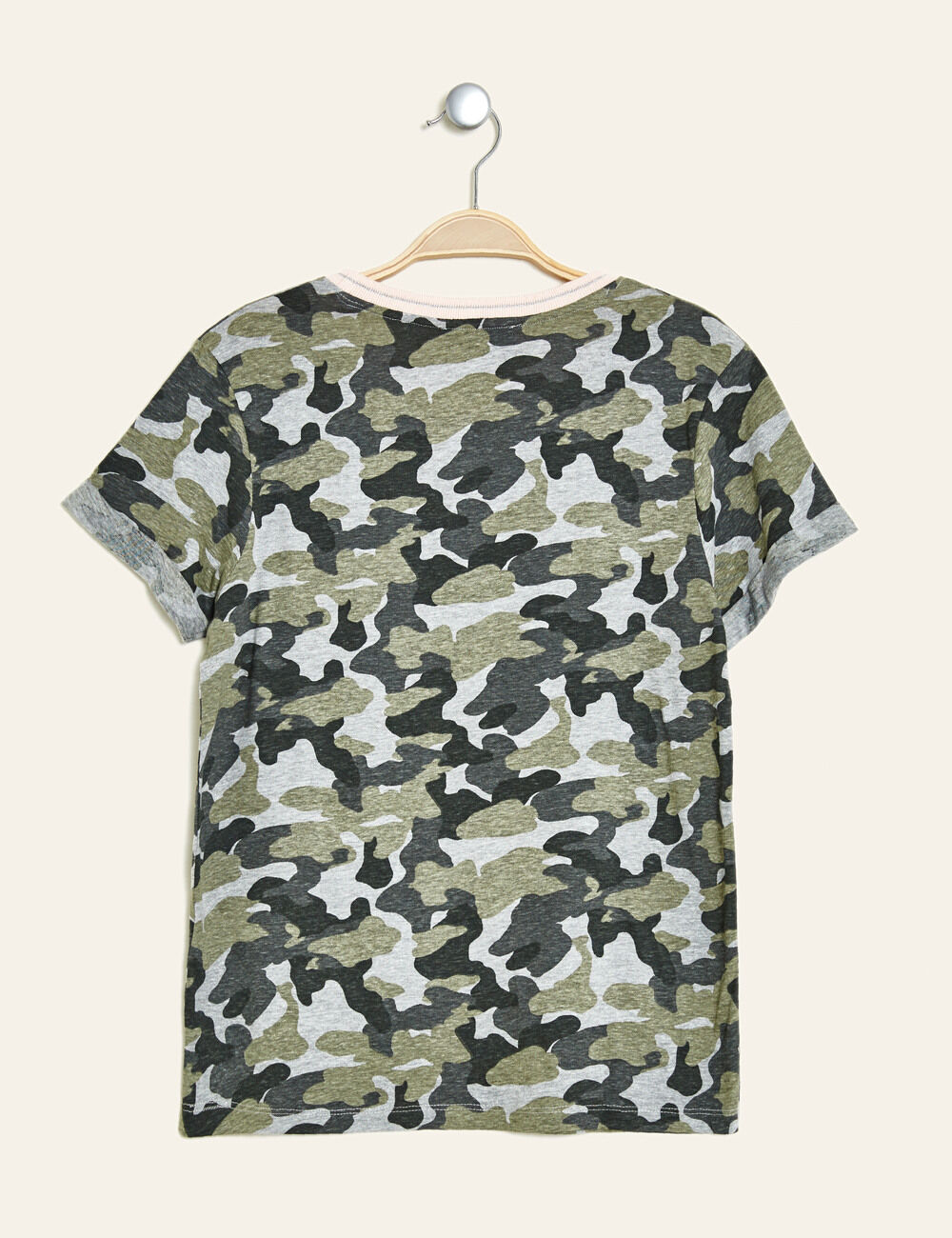 tee shirt camouflage imprim kaki femme jennyfer. Black Bedroom Furniture Sets. Home Design Ideas