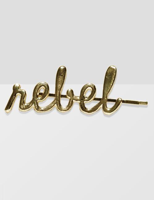 "Gold ""rebel"" hair clip"