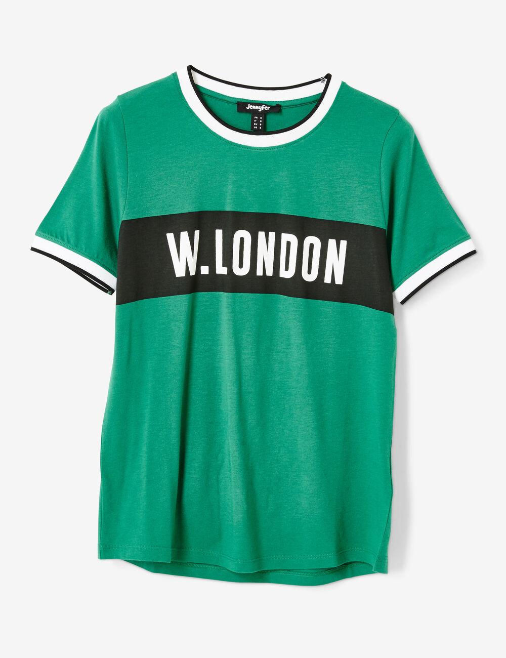 tee shirt message vert femme jennyfer. Black Bedroom Furniture Sets. Home Design Ideas