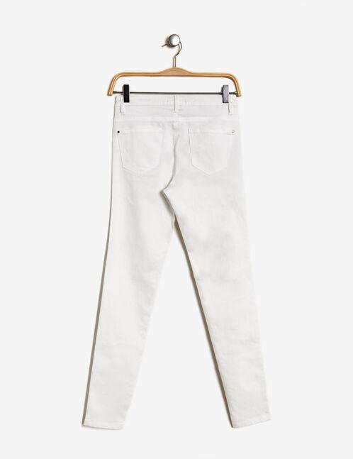 pantalon super skinny écru