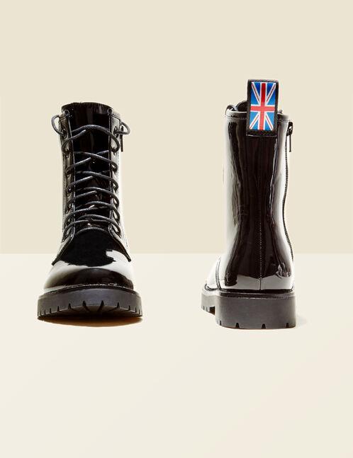 bottines rock à lacets noires