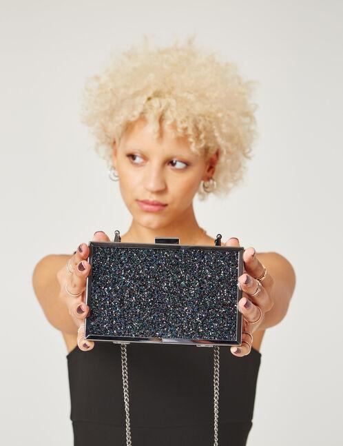 pochette rectangulaire noire