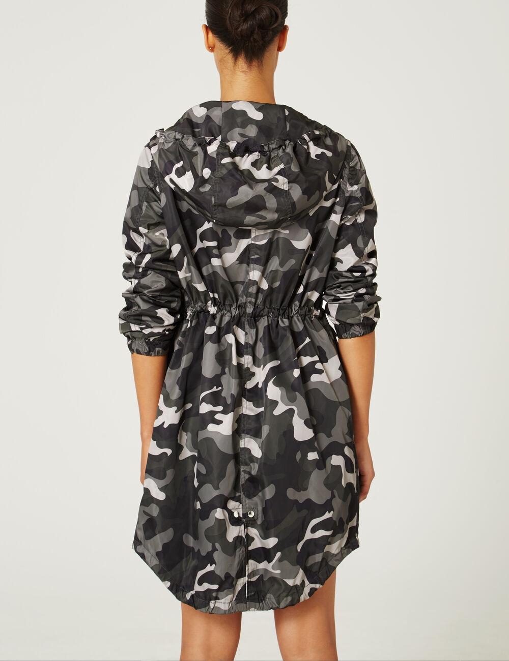 parka imperm able camouflage kaki femme jennyfer. Black Bedroom Furniture Sets. Home Design Ideas