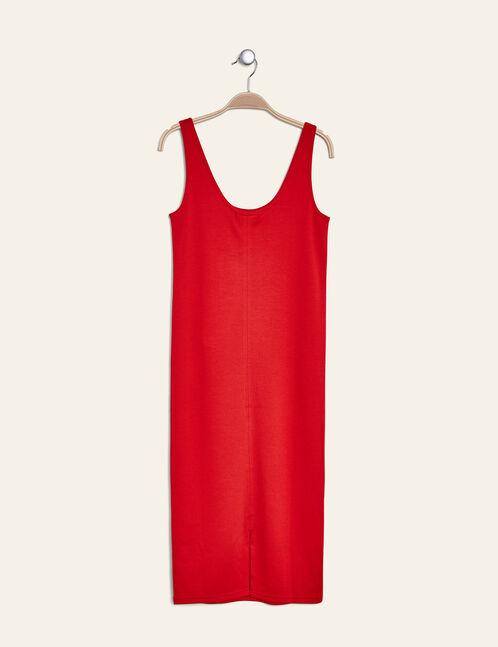 Long red tube dress