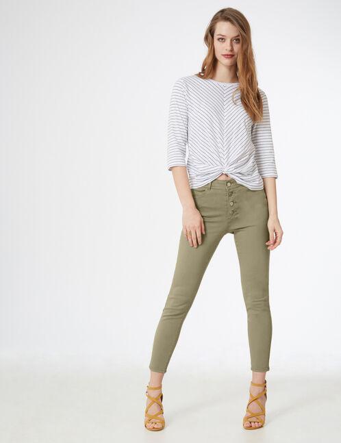 Light green high-waisted trousers