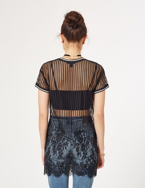 Black openwork lace dress
