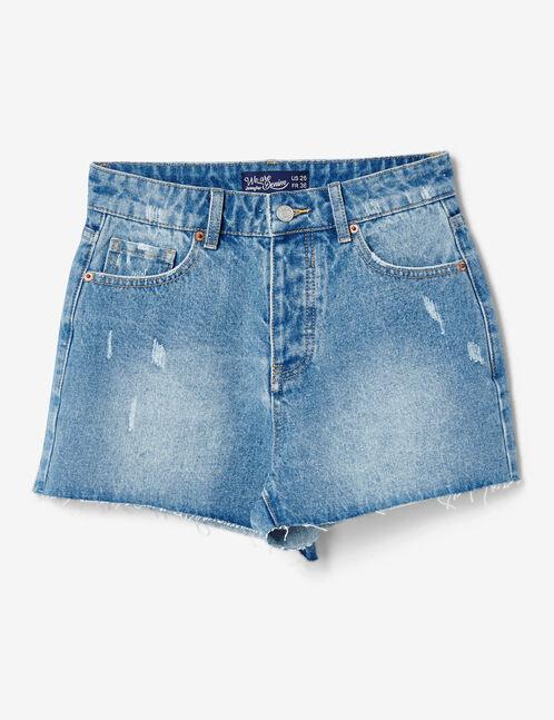 "Medium blue ""we are denim"" shorts"
