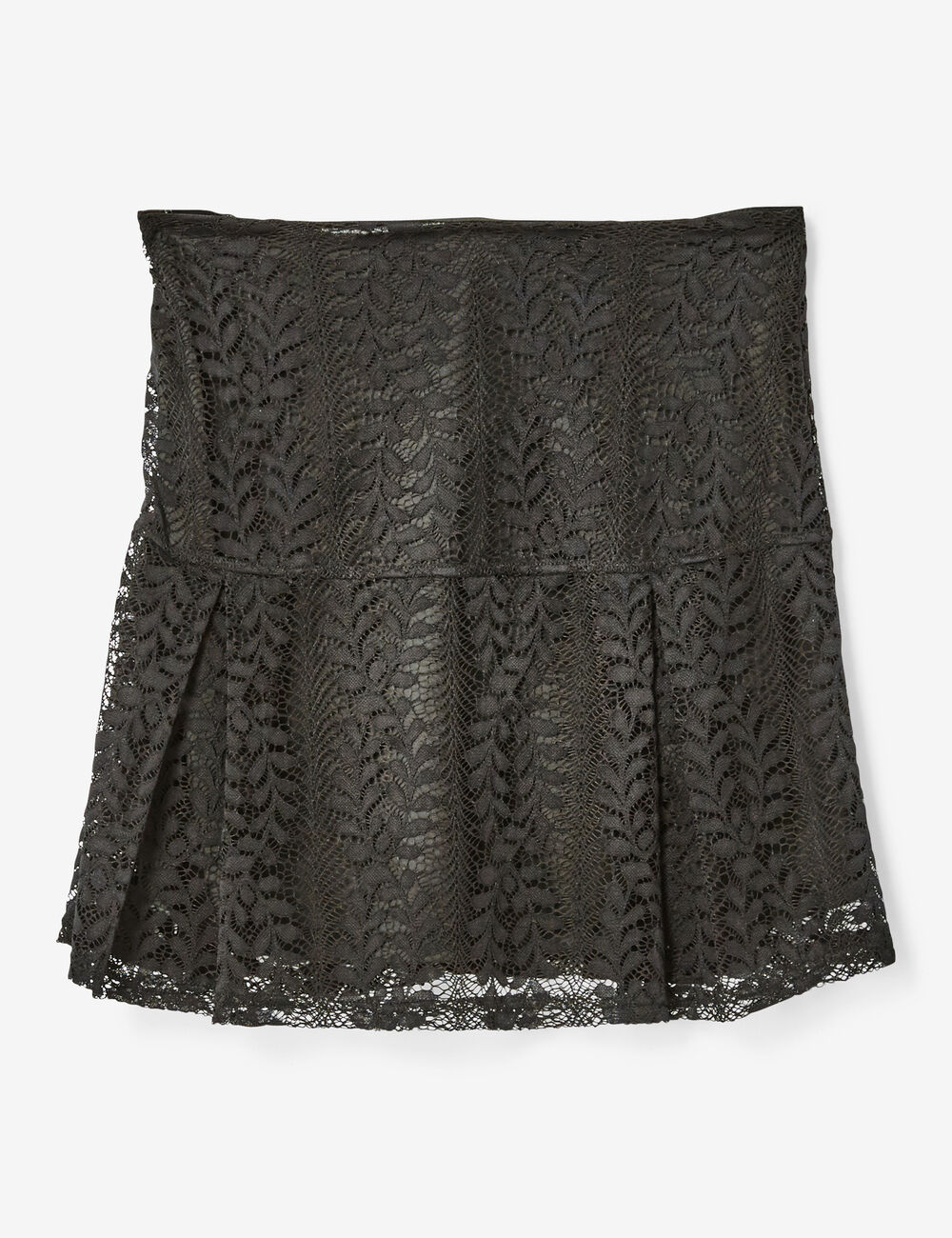 jupe vas e en dentelle noire femme jennyfer. Black Bedroom Furniture Sets. Home Design Ideas