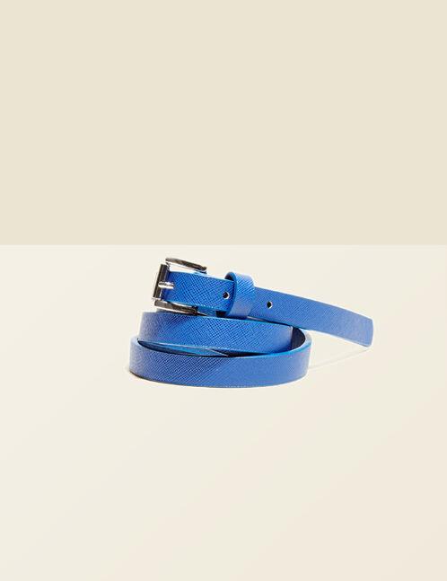 Blue textured belt