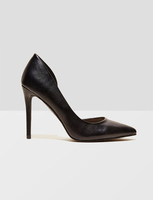 Product Escarpins, noir, simili, bouts pointus, talons 10cm.Marque Jennyfer Catégorie chaussures
