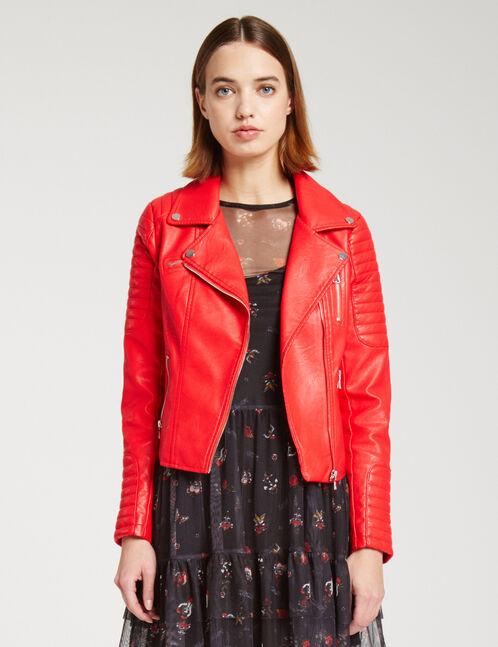 veste biker rouge