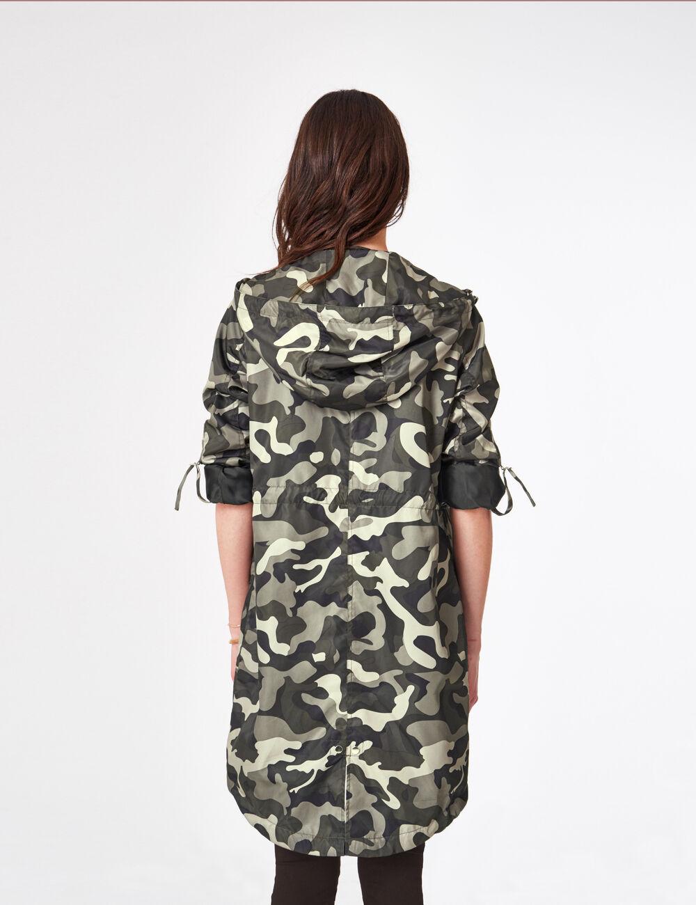 parka l g re imperm able camouflage kaki femme jennyfer. Black Bedroom Furniture Sets. Home Design Ideas