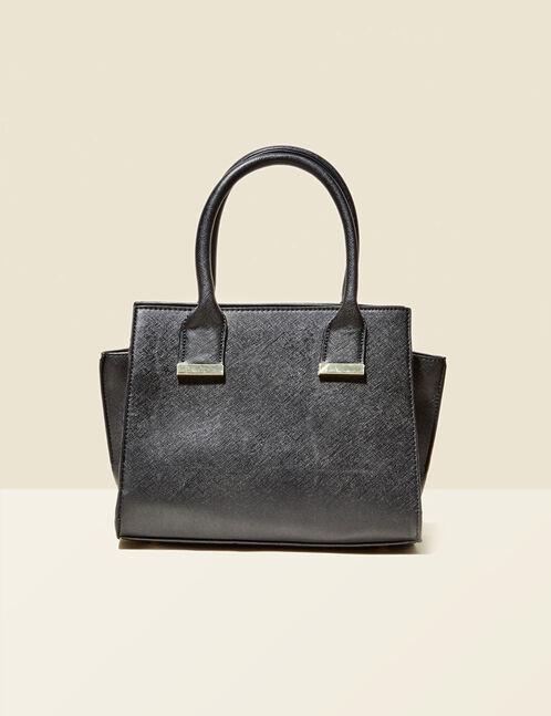 sac à main strié noir