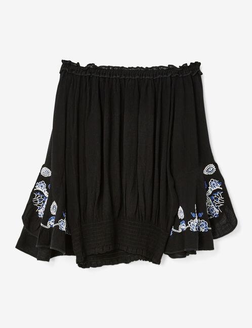 blouse épaules dénudées noire