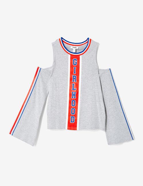tee-shirt girlhood gris chiné
