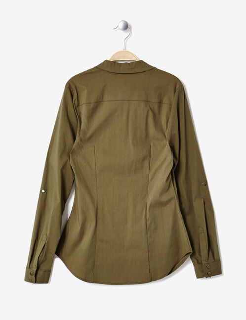 Basic khaki fitted shirt