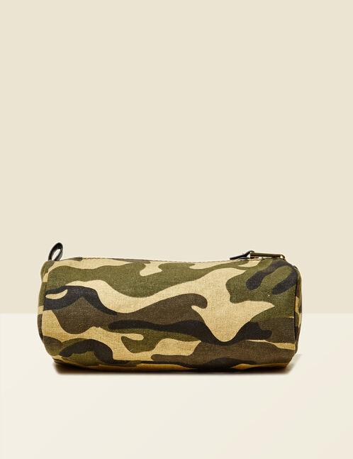 trousse camouflage à pins kaki