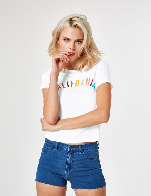 tee-shirt california blanc