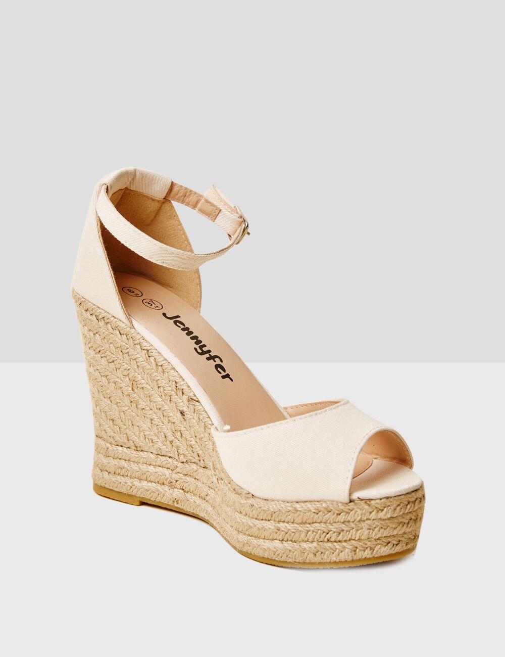 sandales compensées nude ...