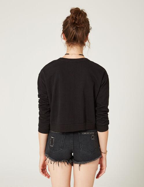 Black sweatshirt with ring detail