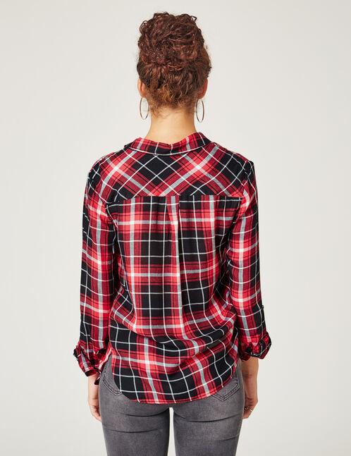 Black & red checked shirt