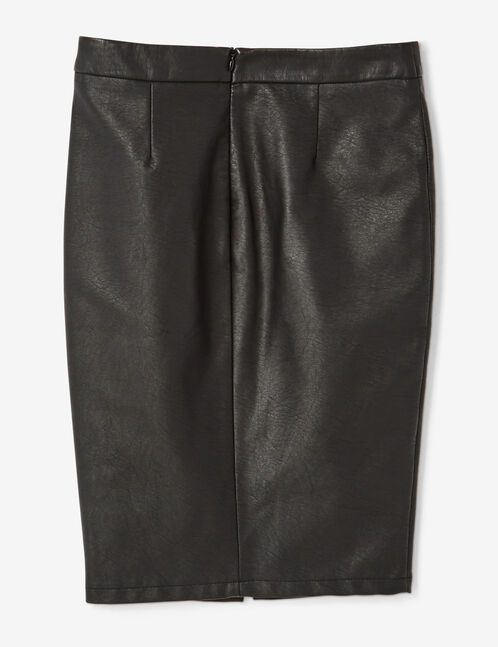 Black midi skirt with zip detail