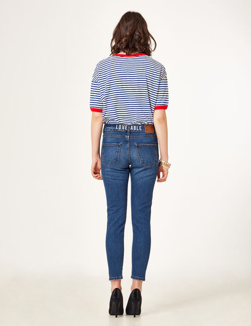 "Medium blue ""loveable"" jeans"