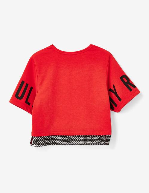 tee-shirt fitness bi-matière rouge