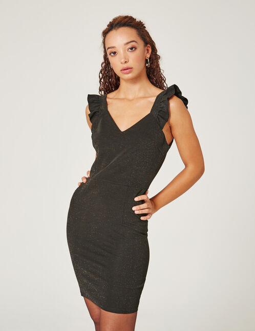 robe ajustée avec lurex noire
