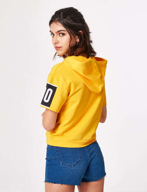 "Yellow ""London"" hoodie"