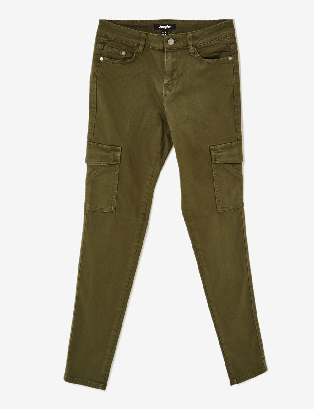 pantalon cargo poches kaki femme jennyfer. Black Bedroom Furniture Sets. Home Design Ideas