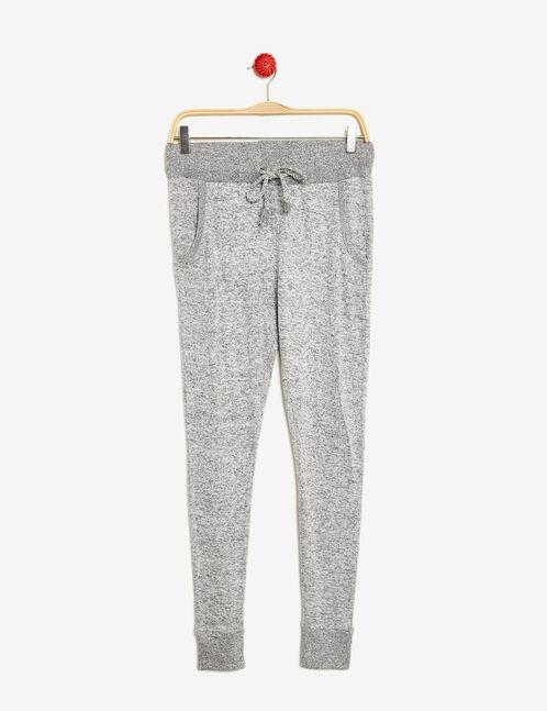 Grey marl loose-fit joggers