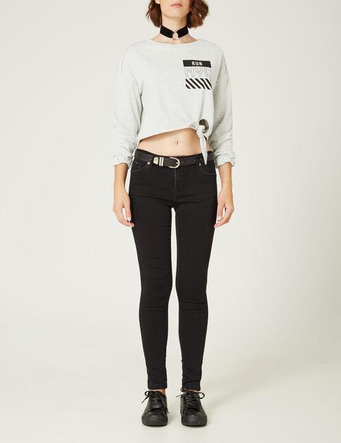 Black super skinny push-up jeans