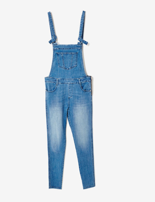 salopette en jean medium blue