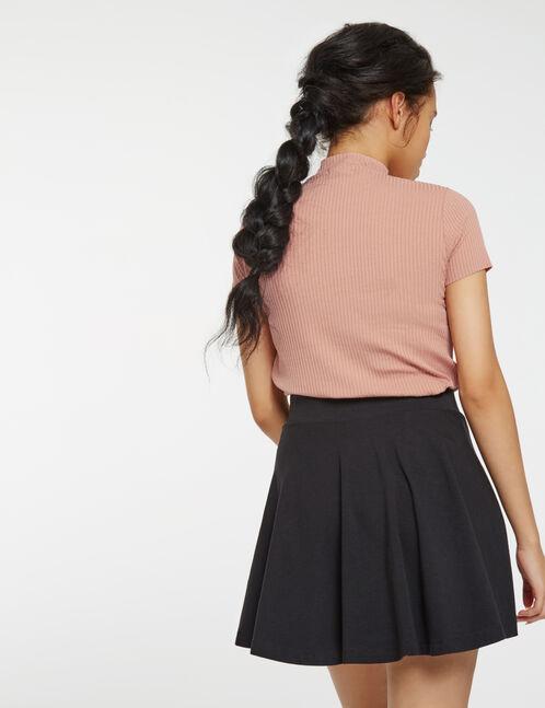 jupe courte patineuse noire